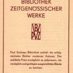 Verlagsprospekt für die 1929 gegründete Bibliothek zeitgenössischer Werke