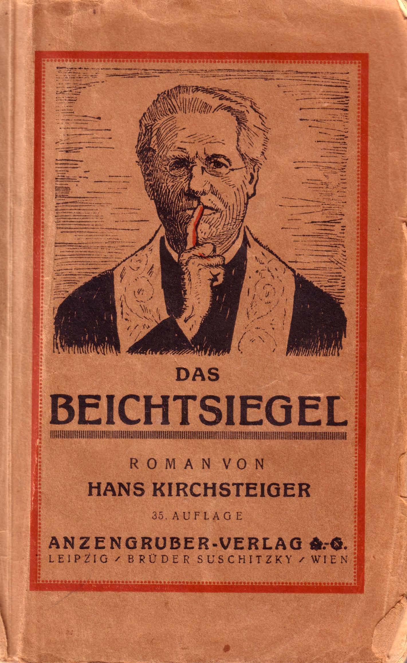 """Einband """"Das Beichtsiegel"""" von H. Kirchsteiger"""