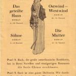 Verlagsprospekt für die Werke der Nobelpreisträgerin Pearl S. Buck (1892–1973)
