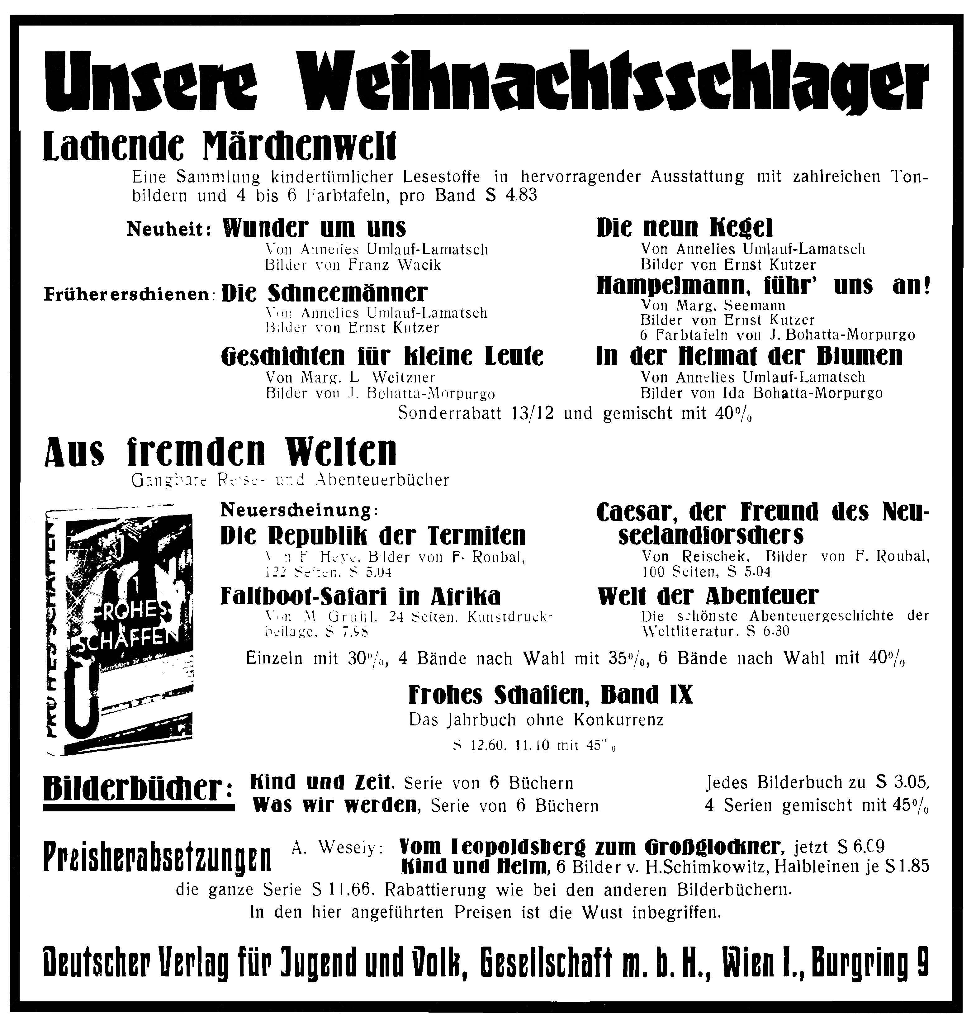 DVJV Anzeige 1932