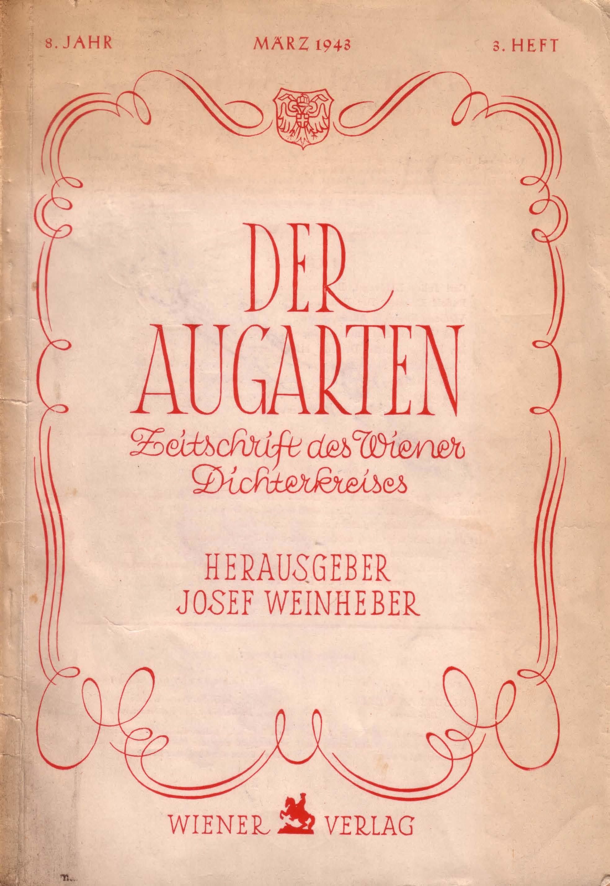 Der Augarten Cover