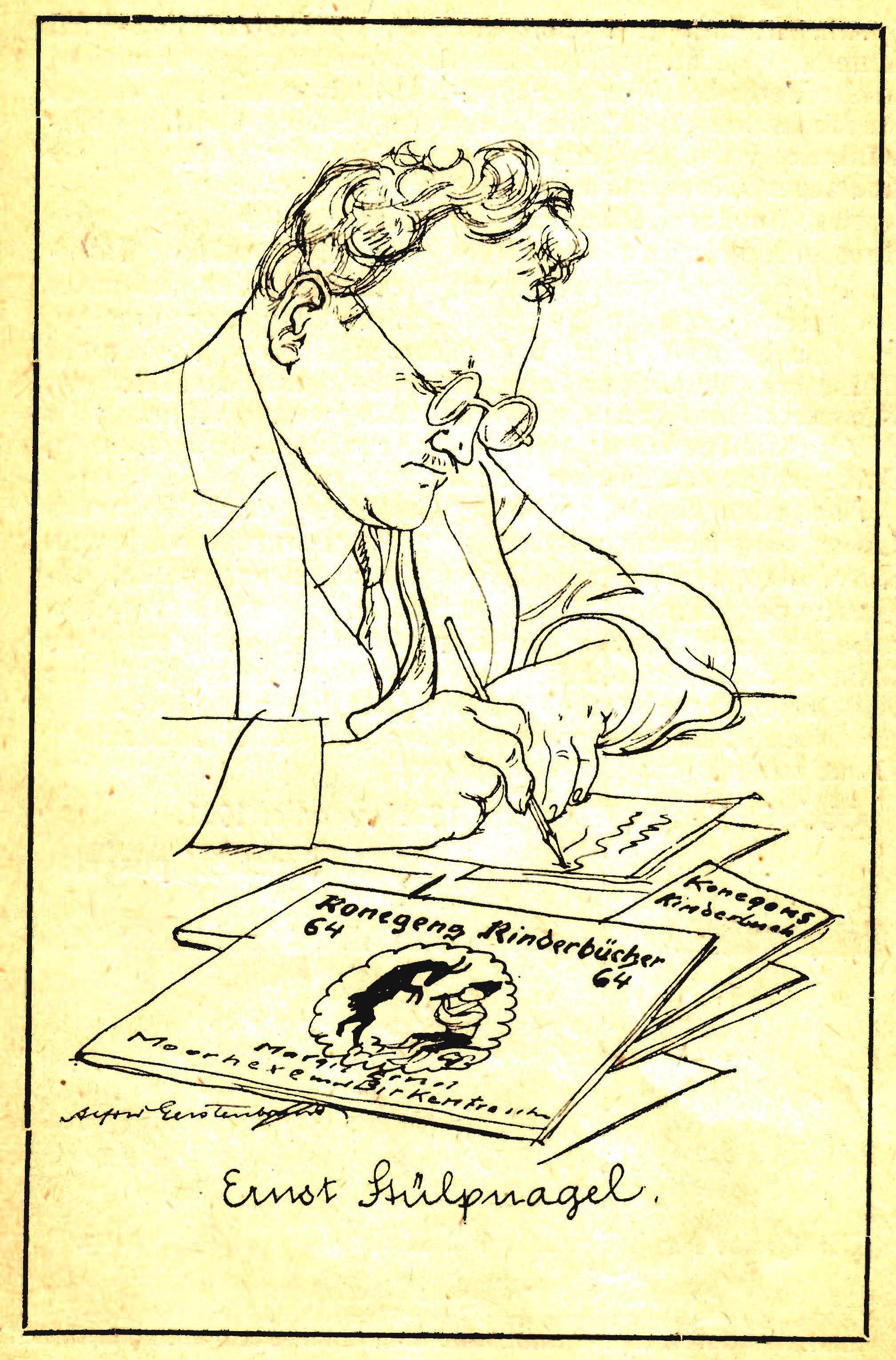 Ernst Stülpnagel (Zeichnung von Alfred Gerstenbrand 1922)