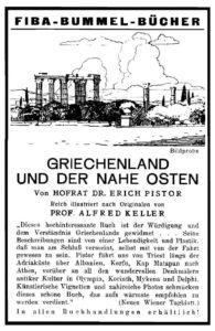 Anzeige für den Griechenland-Band der Bummel-Bücher, 1932