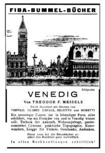 Anzeige für den Venedig-Band der Bummel-Bücher, 1931