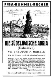 Anzeige für den Adria-Band der Bummel-Bücher