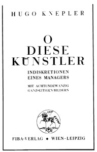 Titelblatt 1931