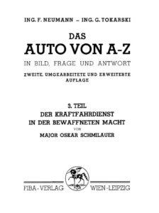 Auto-Titelblatt 1937