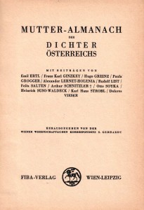 Titelblatt Mutter-Almanach, 1933