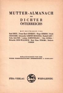 Titelblatt Mutter-Almanach, 1933