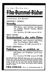 Anzeige für Fiba-Bummel-Bücher