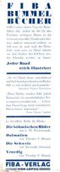 Anzeige für Fiba-Bummel-Bücher 1932