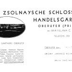Zsolnays Schloss- und Handelsgärtnerei in Oberufer.