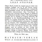 """Anzeige für """"Das Ruth Buch"""" (1923)"""