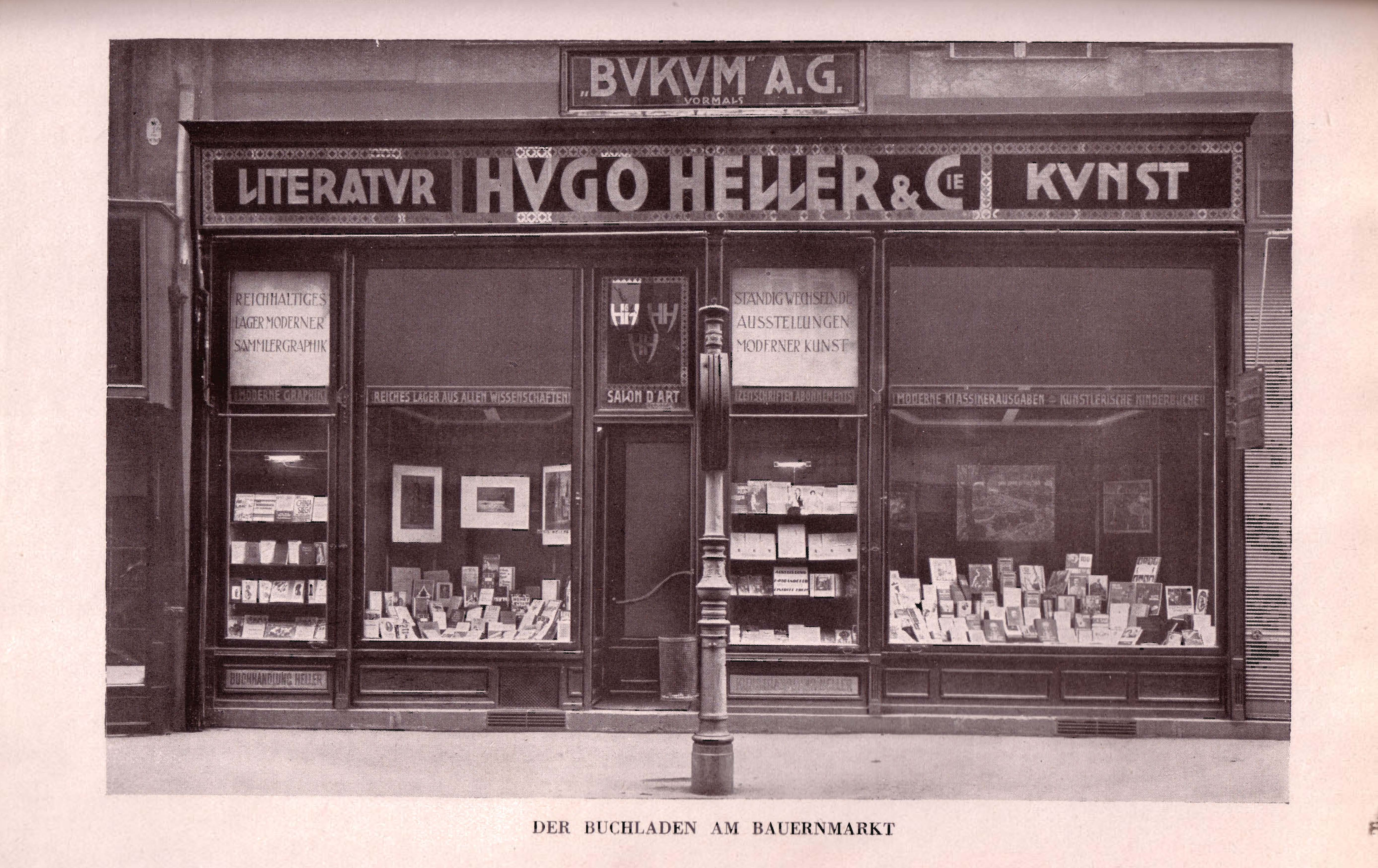 Hugo Heller Bukum Auslage