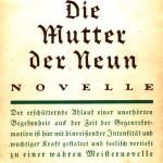 Schutzumschlag von Oskar Jellineks Die Mutter der Neun (1926)
