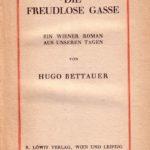 "Titelblatt ""Die freudlose Gasse"""