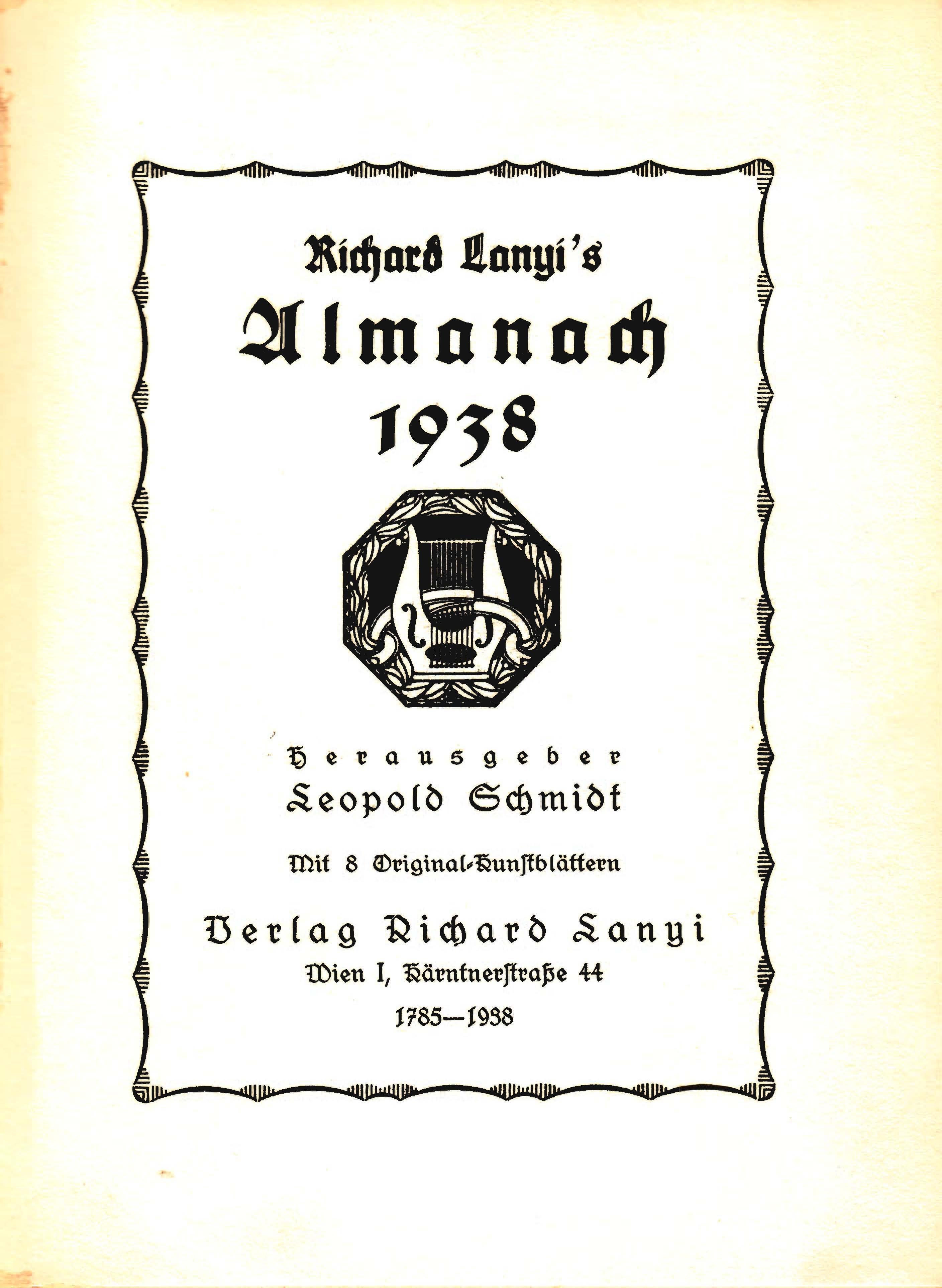 Lanyi Almanach 1938