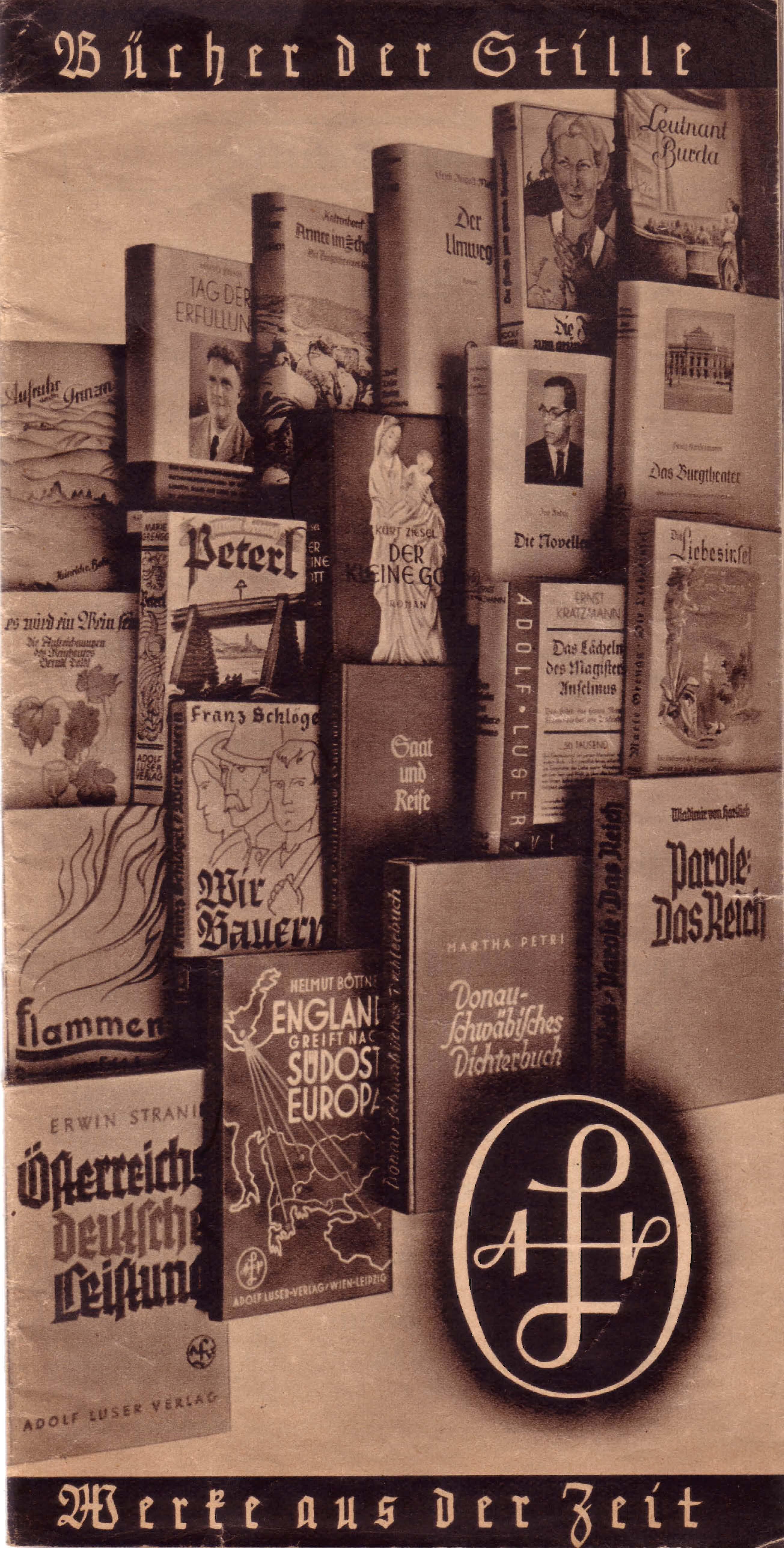 Verlagsprospekt Adolf Luser Verlag 1939
