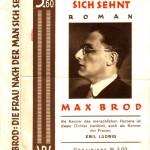 Schutzumschlag Max Brods Die Frau nach der man sich sehnt (1930)
