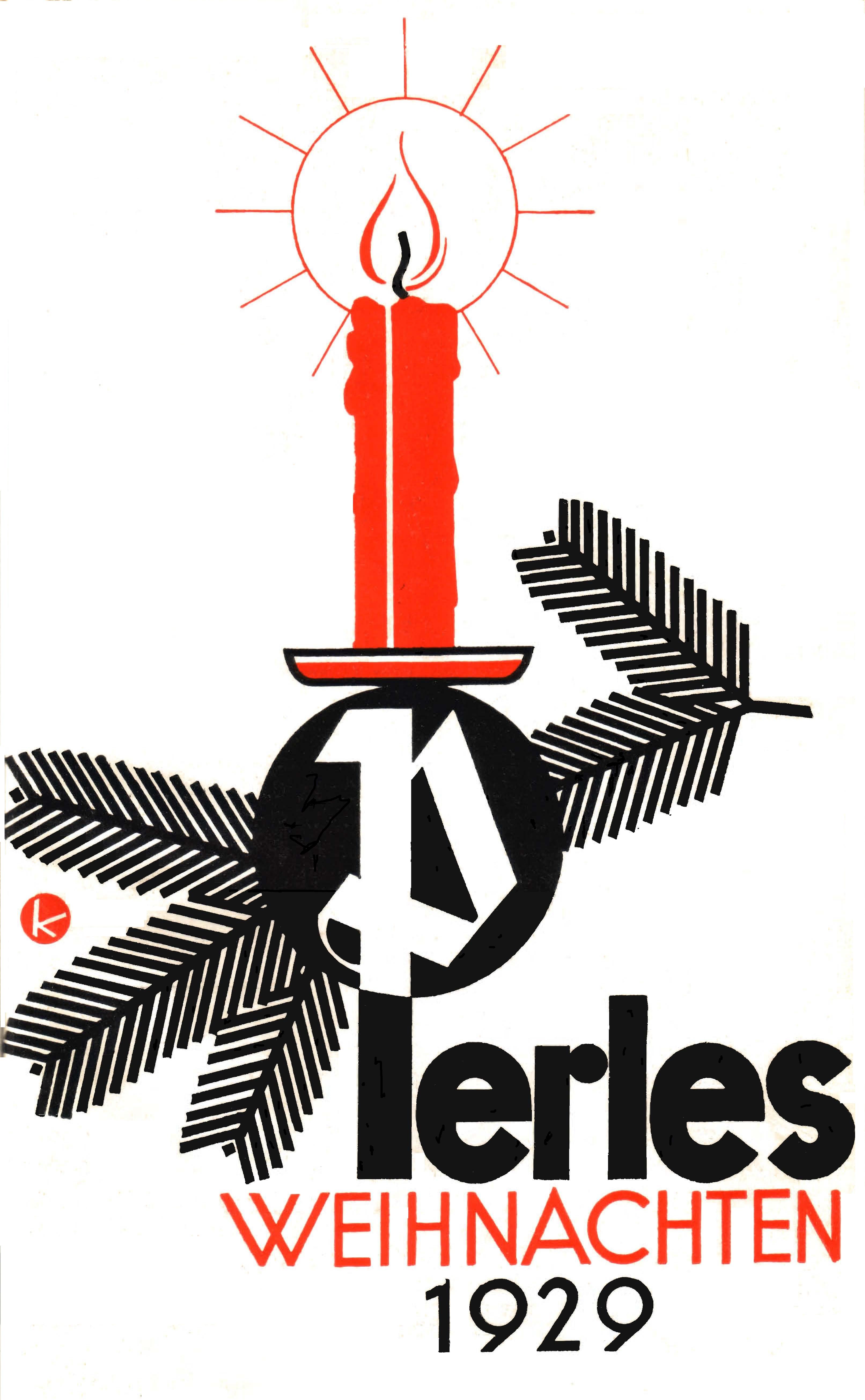 Perles Klinger Weihnachten 1929