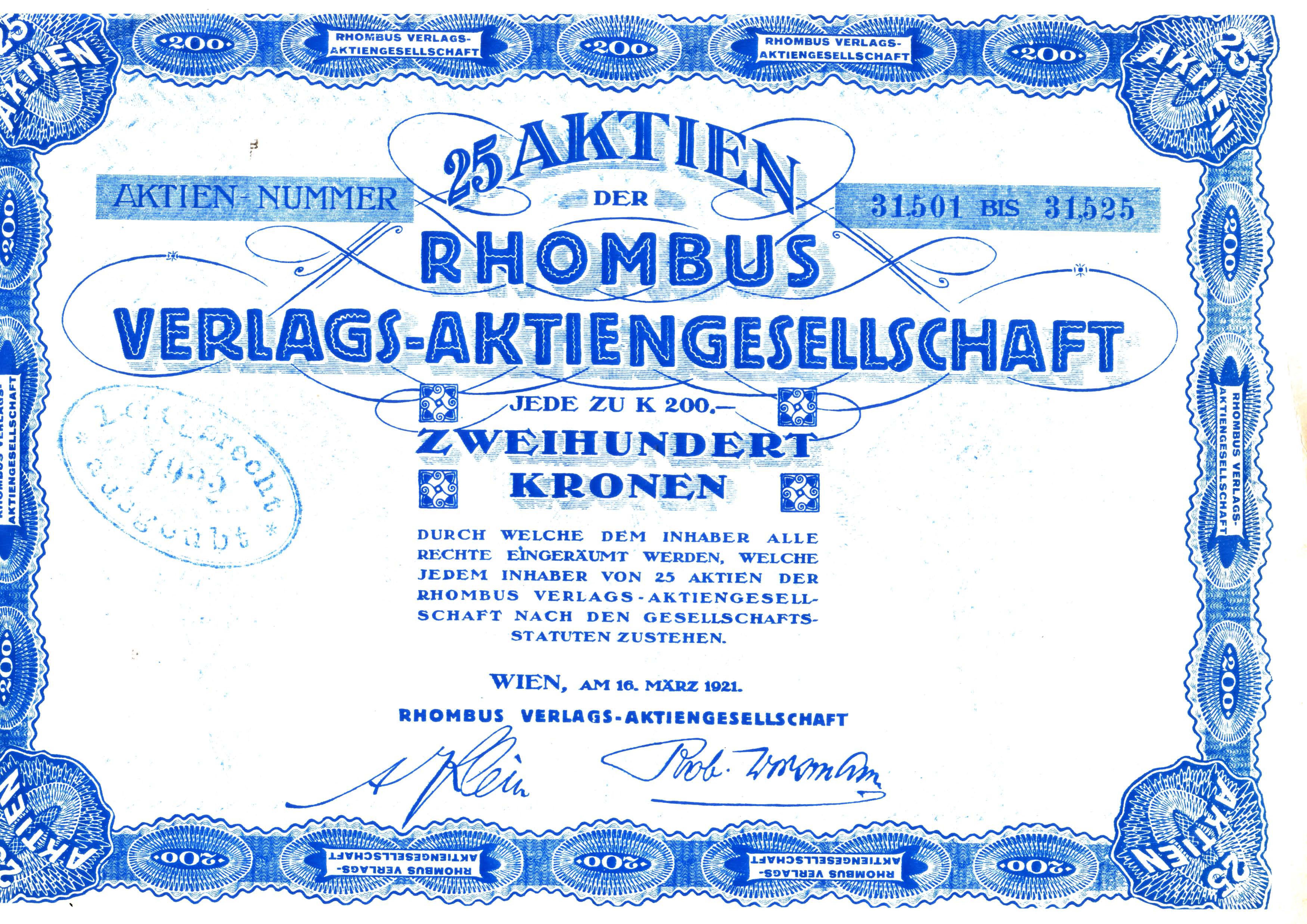 Rhombus Aktie