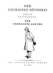 Schidrowitz Goethe