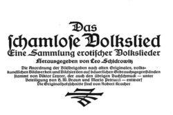 Schidrowitz Volkslied