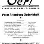 Titelblatt Ver!, 3 (1921), Heft 33, Februar 1921.