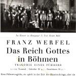 Sonderprospekt Franz Werfels Das Reich Gottes in Böhmen (1930)