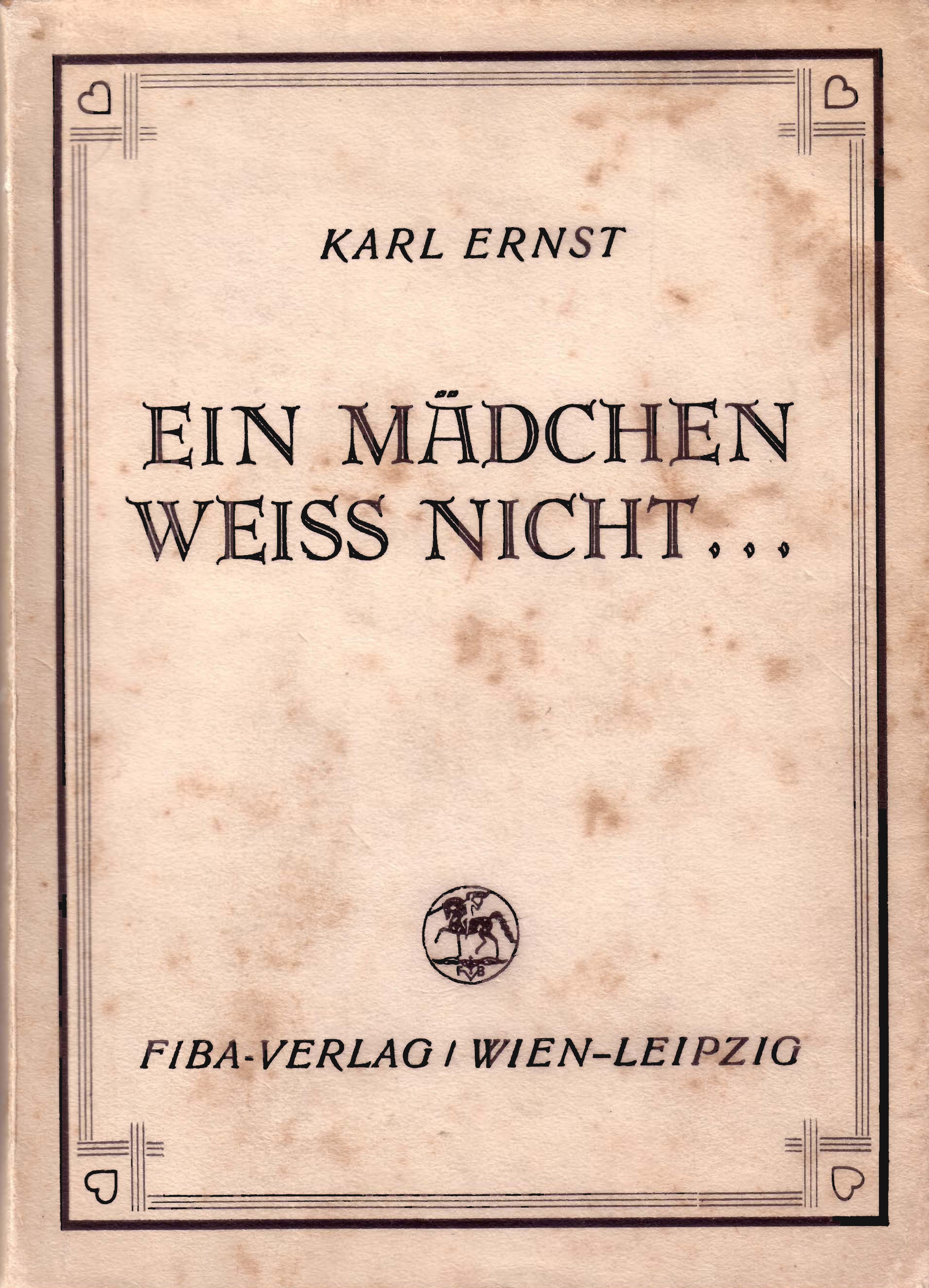 Schutzumschlag, 1937