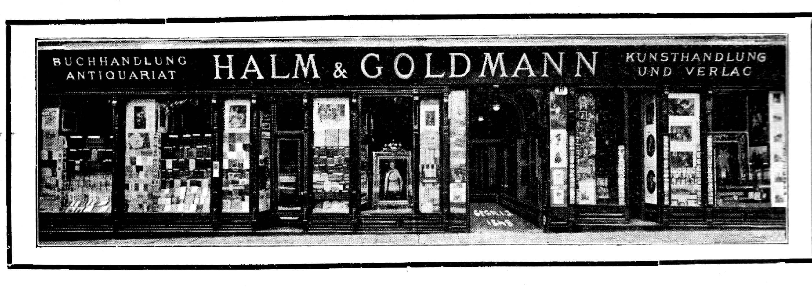 Geschäftsportal der Firma Halm & Goldmann in Wien (1910)