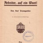 Titelblatt Karl Paumgartten: Arbeiter, auf ein Wort! (1921)