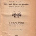 """Titelblatt von """"Juda"""""""