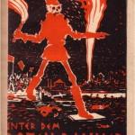 """Umschlag """"Unter dem roten Banner"""" (1. Aufl. 1927)"""