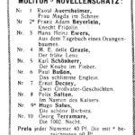 Anzeige für die erste Serie von Molitor's Novellenschatz.